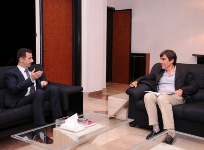 Photo of President Bashar al-Assad's interview with Le Figaro  (Part 2)