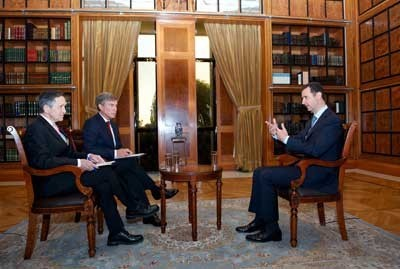 Photo of President al-Assad's interview with Fox News (Part 1)