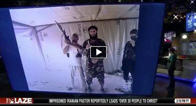 Photo of Video- Terrorist Al- Qaeda leader in Syria photographed inside a US aid tent.