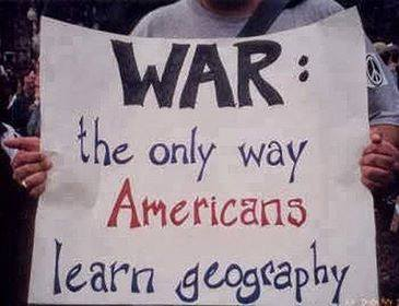 Photo of War the only way US learn geography