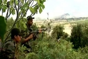 Army destroys 9 cars loaded with weapons in Lattakia countryside