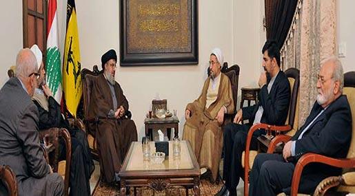 Photo of Sayyed Nasrallah Receives Sheikh Araki