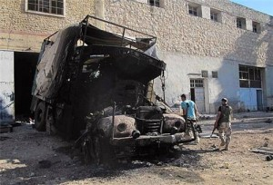 Syrian Army Destroys Turkish Cars Carrying Weapons