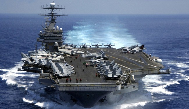 US aircraft carrier heading to Red Sea