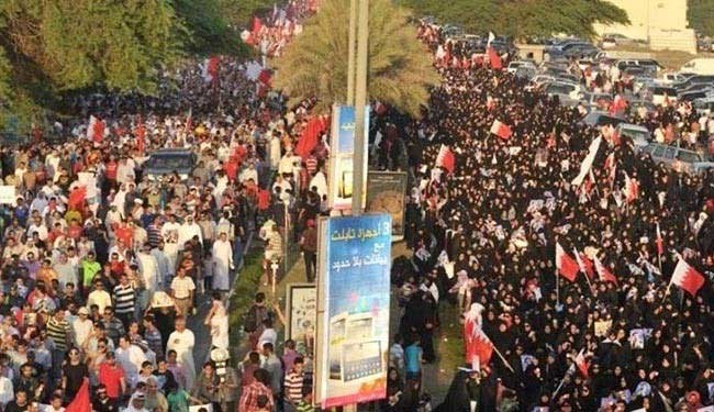 Photo of Bahrainis march in memory of killed protester