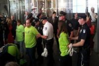 Photo of Walmart protesters arrested in NYC