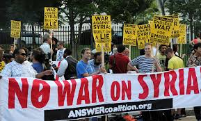 Photo of Swedes protest US plans for war on Syria amid Obama visit