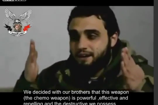 """Photo of Video- Confession by terrorists in Syria: """"We have chemicals, we used it and we will use anytime…"""""""