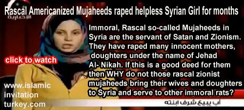 Photo of Video- Rascal Americanized Mujaheeds raped helpless Syrian Girl