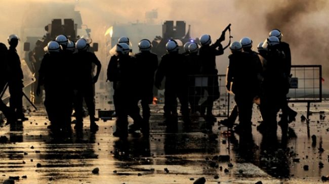 Photo of Bahraini forces attack funeral of slain protester