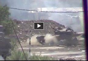 Photo of Video- Syrian Anti-Terrorist Tank Shot