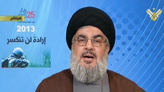 Photo of Sayyed Hassan Nasrallah: KSA against political solution to Syria crisis