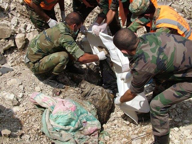 """Photo of Mass Grave, a relic of """"Free Army"""" in al-Qusair"""