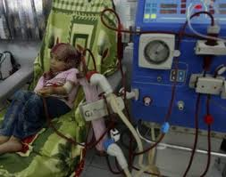 Photo of Hundreds ofThe Palestinian health ministry in Gaza Strip