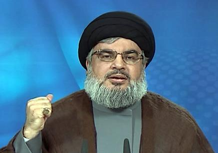 Photo of Sayyed Nasrallah in Televised Speech on Monday