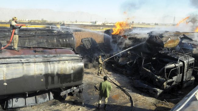 Photo of Two injured in militant attack on NATO trucks in NW Pakistan