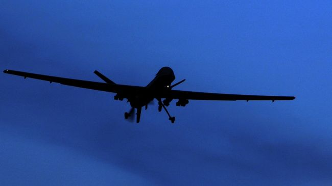 Photo of US drone crashed in Afghanistan's Herat province