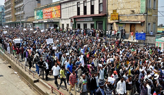 Ethiopians protest Saudi violence in Washington