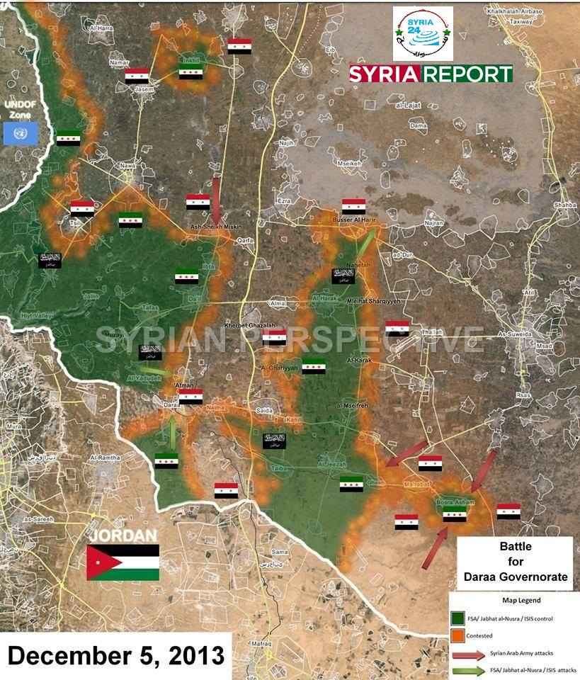 Photo of Military map of Dar'aa