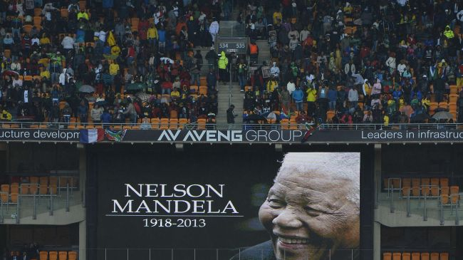 Photo of Mourners gather for Mandela memorial in Johannesburg