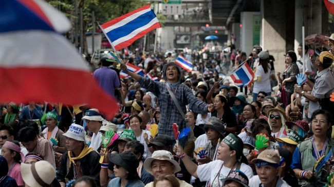 Photo of Thais block election registration