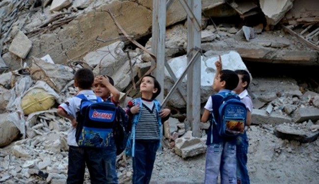 Photo of Syrian children killed in rebel attack on Homs school