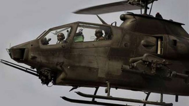 Photo of Pakistani helicopters pound militant hideouts in Waziristan