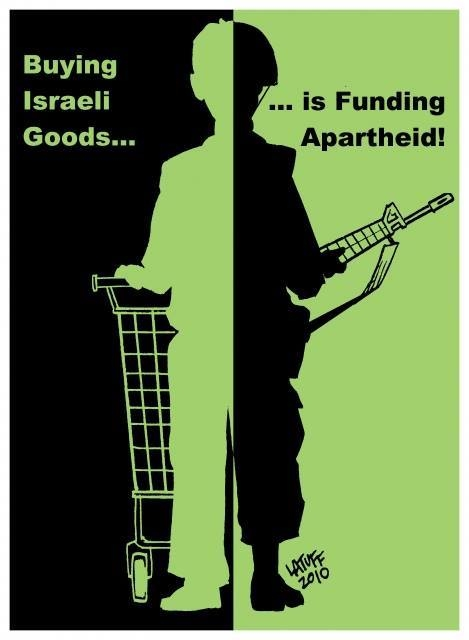 Photo of Caricature: Do not help zionist destruction by buying their goods!!