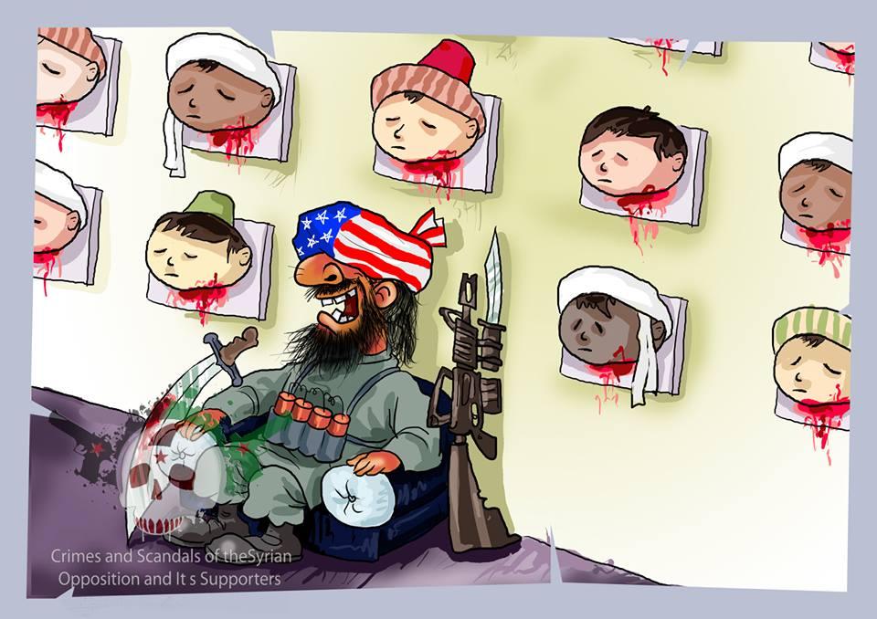 Photo of Cartoon- Wahhabists are baby killers