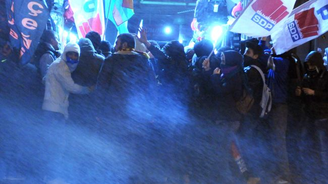 Photo of Turkish police clash with protesters in Istanbul