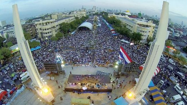 Photo of Assailants kill two during anti-govt. protest in Thailand