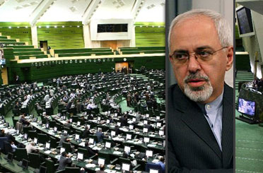 Zarif in Parliament, answers questions