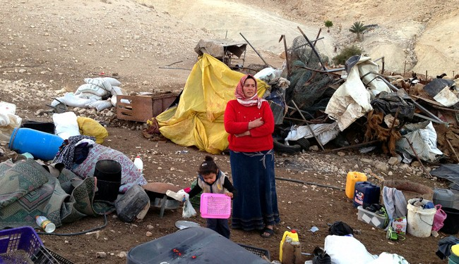 Israel prevents supplying tents to Palestinians in demolished village