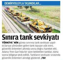 Photo of Exclusive- Turkey deployed tanks to the Syrian border