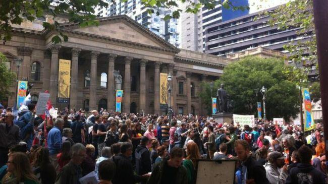 Photo of Australians protest against Abbott administration