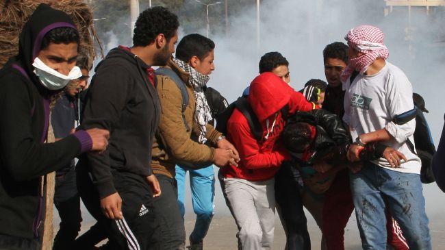 Photo of People in Egypt protest Sisi's presidency bid