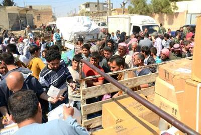 Humanitarian Aid Distributed Among 2,200 Families in Aleppo countryside