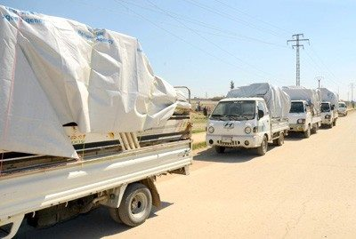 Humanitarian Aid Distributed Among 2,200 Families in Aleppo countryside1