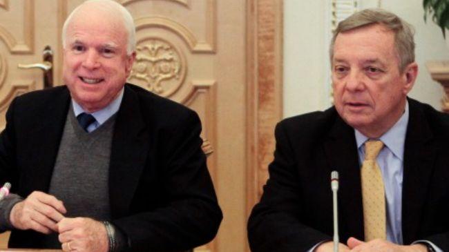 McCain, Durbin to Obama