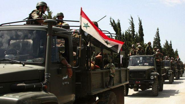 Photo of Syrian army liberates village near Damascus