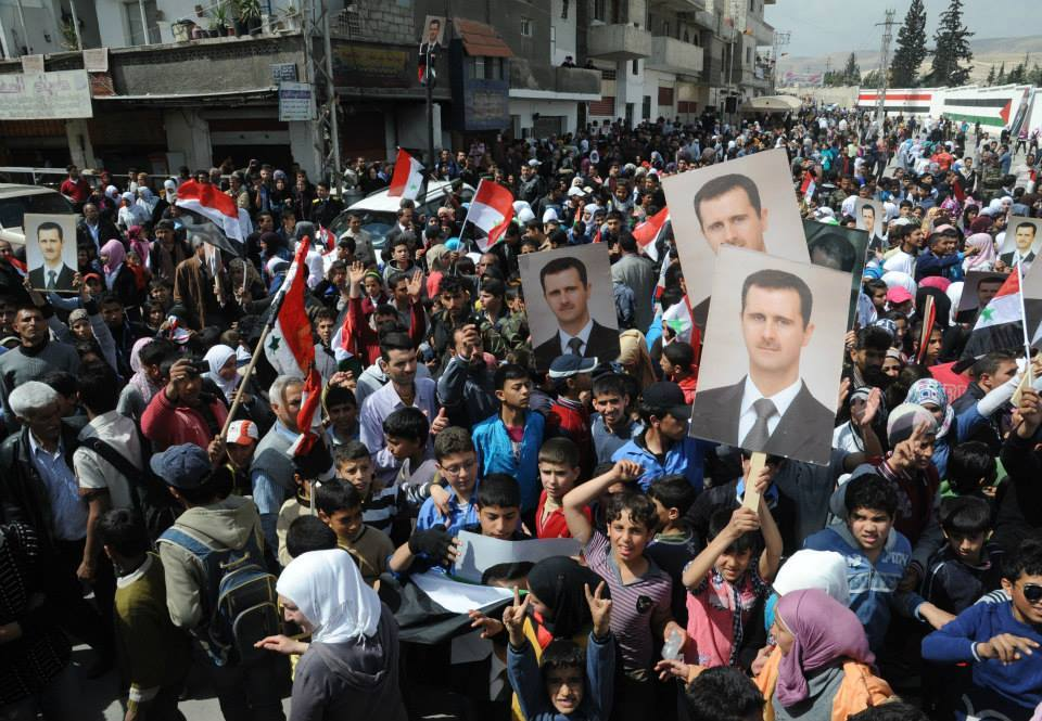 Syrians with Assad