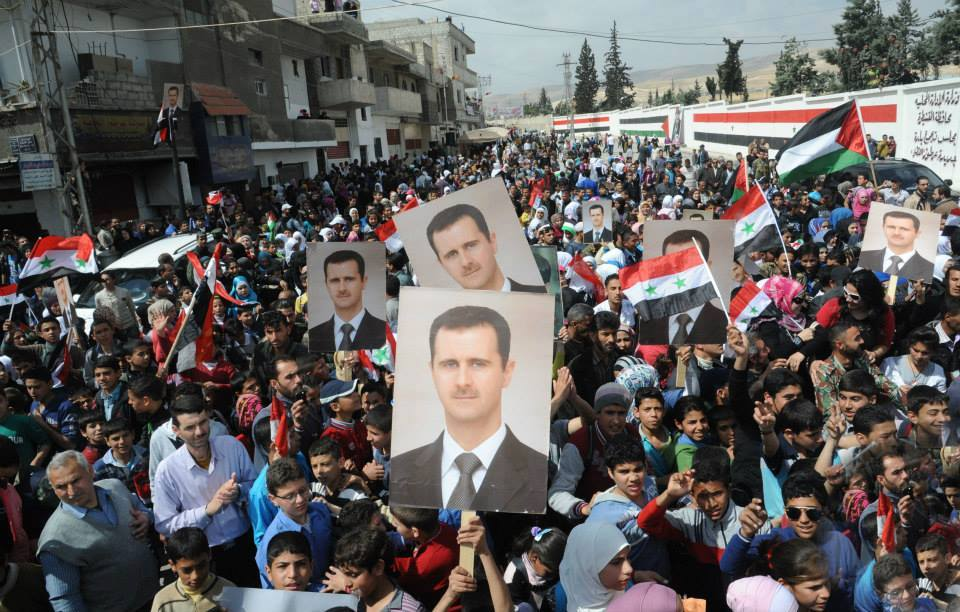 Syrians with Assad5