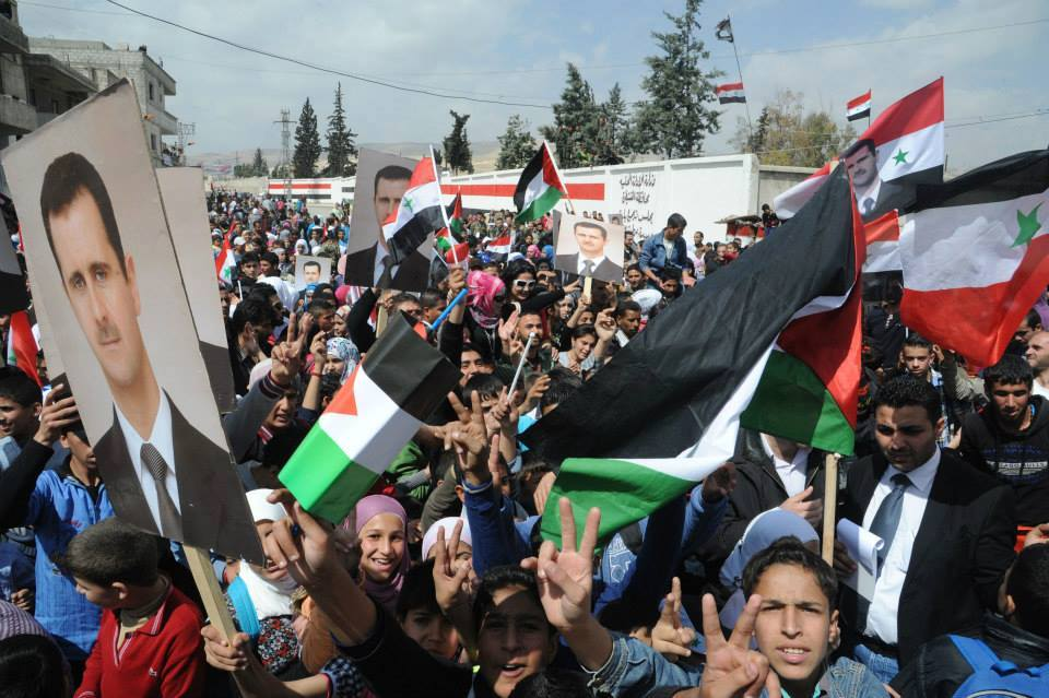 Syrians with Assad6