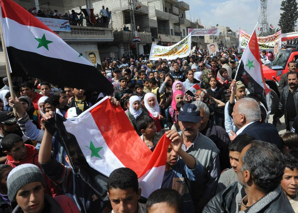 Syrians with Assad8