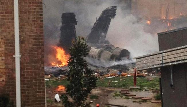 Photo of US Navy jet crashes during training