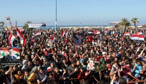 People rally across Syria, voice support for army