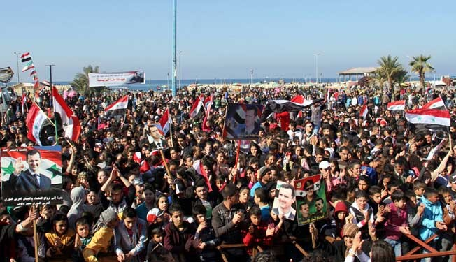 Photo of People rally across Syria, voice support for army