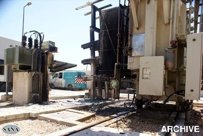 Photo of Terrorists target with shells al-Zarah, Barzeh power plants