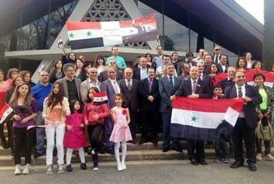Photo of Syrians in Geneva commemorate Independence Day