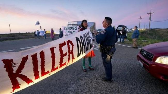 Photo of Anti-killer drone protesters arrested at US Air Force base